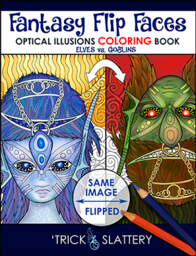 Fantasy Flip Faces - Optical Illusions Coloring Book (8.5x11)