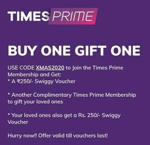 [Big Loot] Times Prime Membership - 100% Free 3 Month