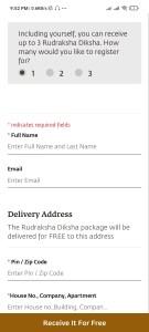 Free Rudraksha Diksha