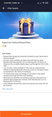 The Supercoin Festival Offer