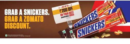 Zomato Snickers Offer