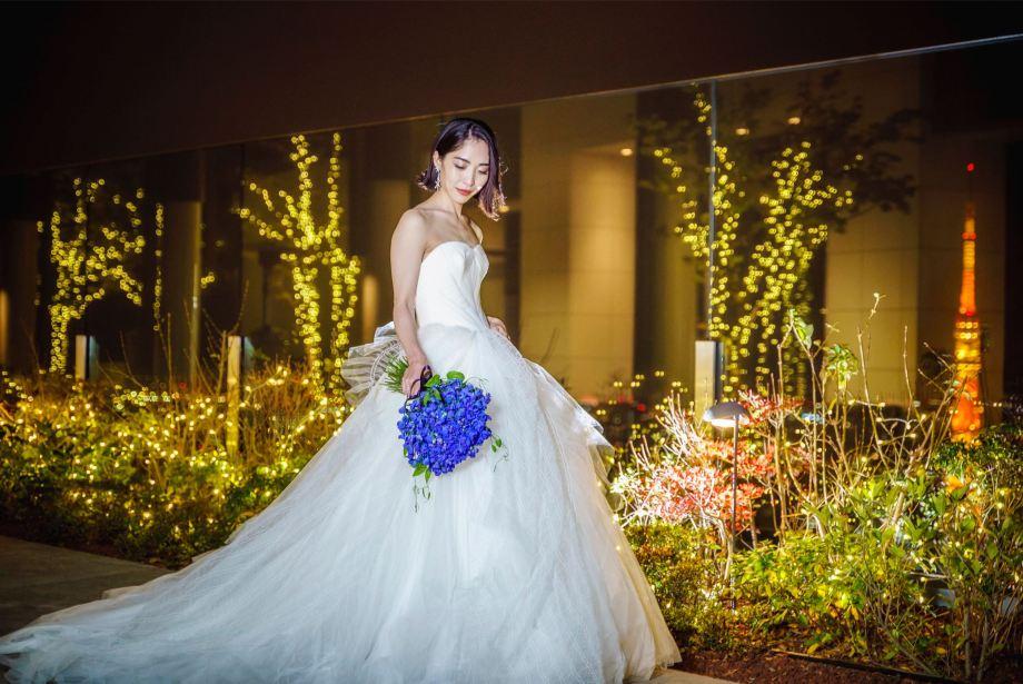 アンダーズ東京結婚式の夜景
