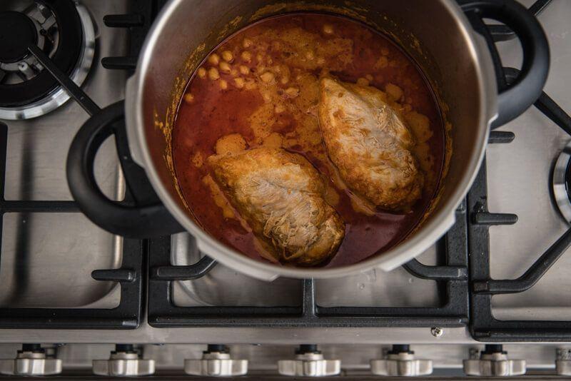 one pot butter chicken kichererbsen trickytine schnellkochtopf
