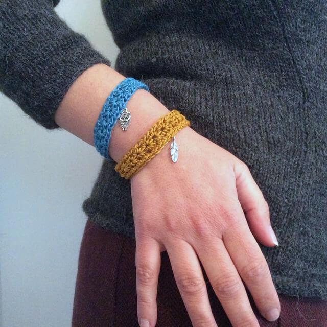 Crocheter un bracelet