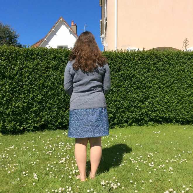 jupe portée de dos
