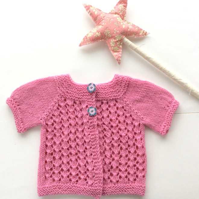 cardigan rose patron tricot ode to doris
