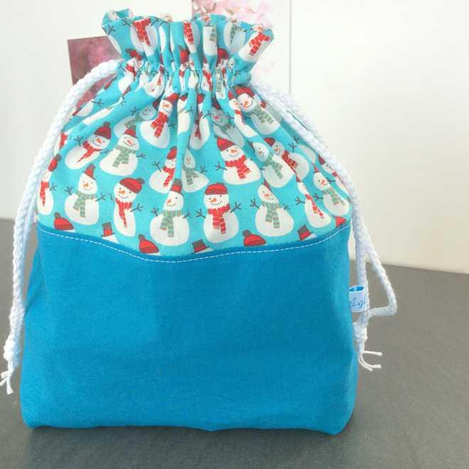 Pochon Bonhommes de neige emballez vos cadeaux