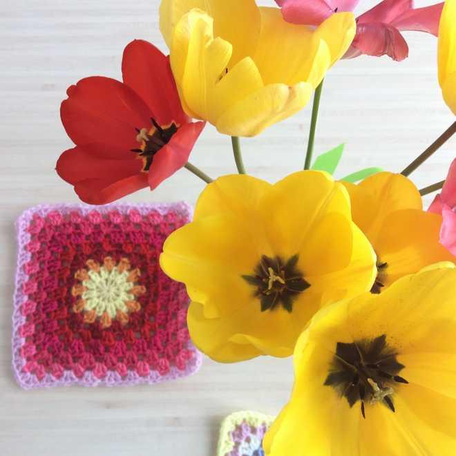 crochet et tulipes