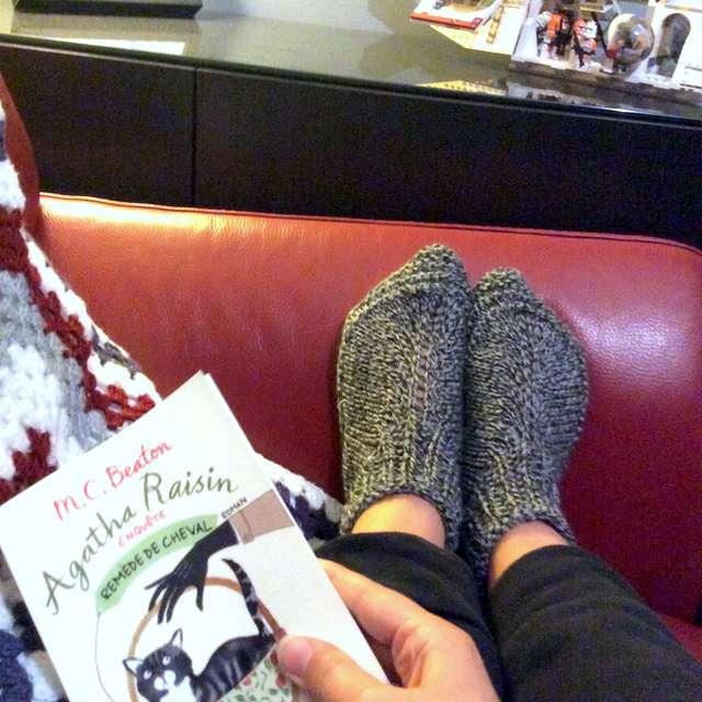lecture et petons au chaud
