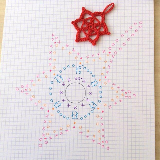 Diagramme flocon crochet snowflake pattern tuto