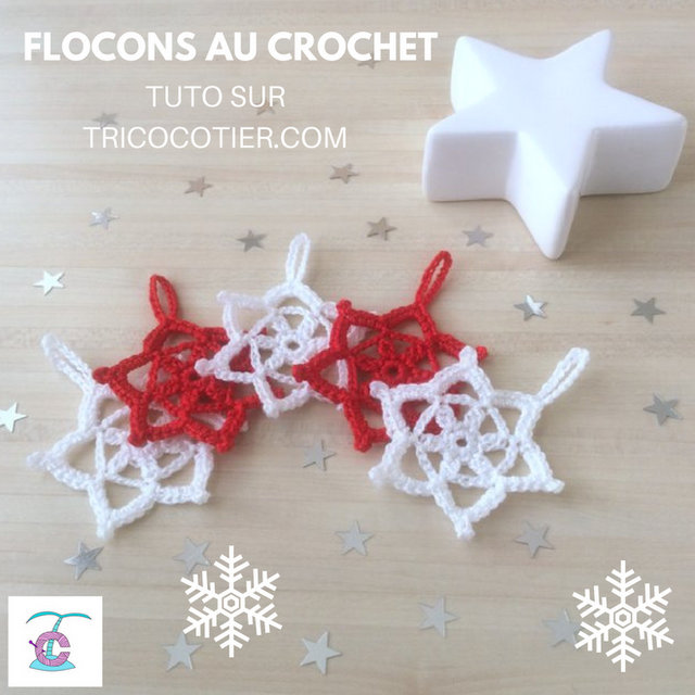 Tuto flocons crochet snowflakes pattern