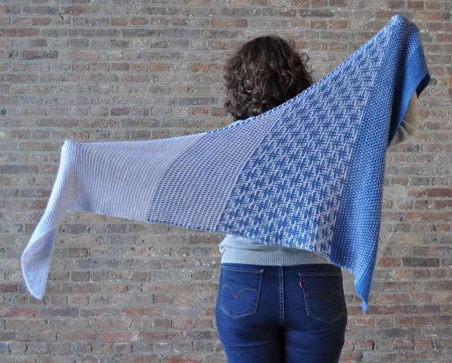 Chale hashtag Geek modèle de tricot aglaé laser