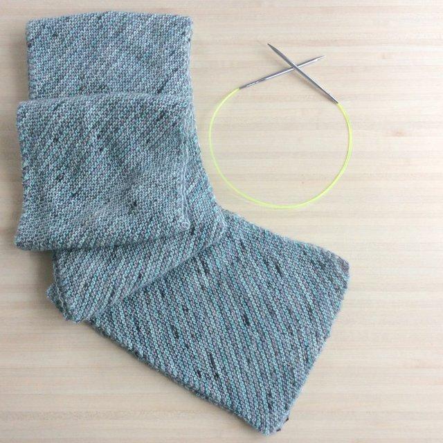 écharpe à rayures tuto patron tricot gratuit Chemins de traverse