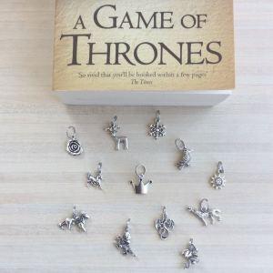 Lot de 12 anneaux marqueurs Game of Thrones (avec 3 dragons)