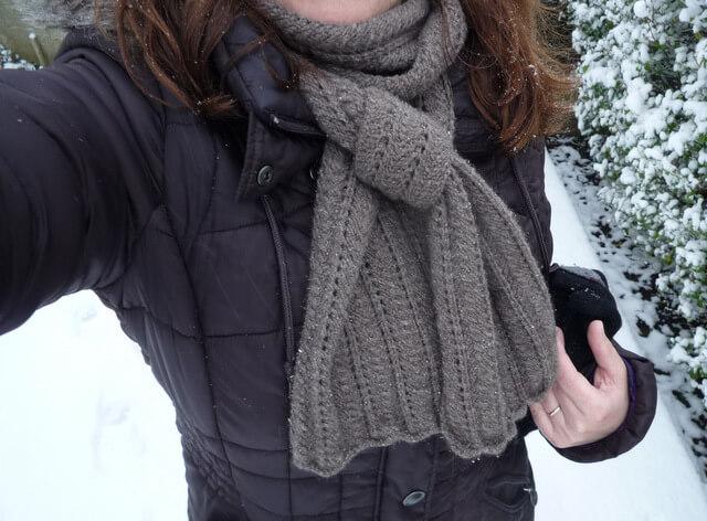 écharpe pour l'hiver et son tuto