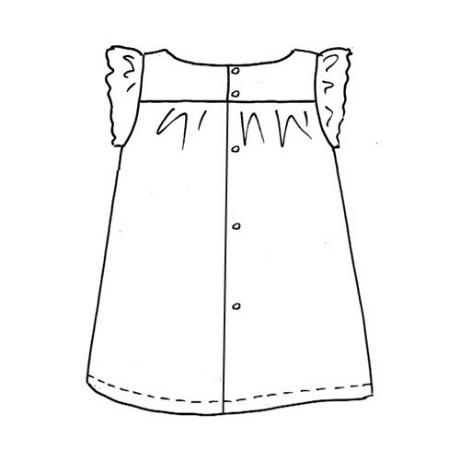 dessin technique robe citronille