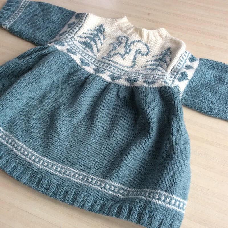 robe avec jacquard