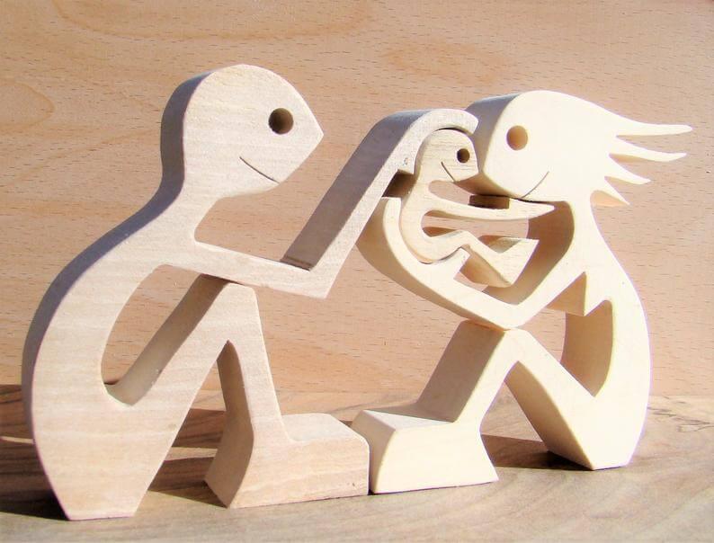 famille en bois