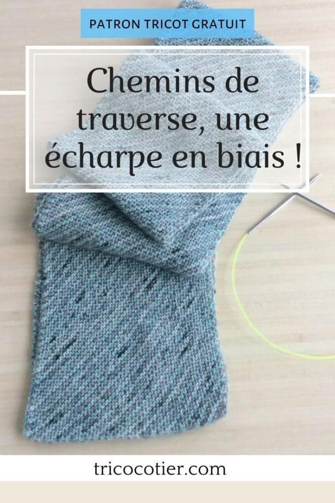 Chemins de traverse harry potter une écharpe en biais tuto tricot gratuit