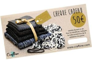 Bon chèque cadeau craftine idée couture