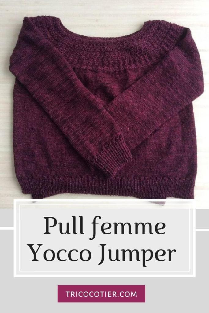 pull tricot femme yocco jumper wouimardis