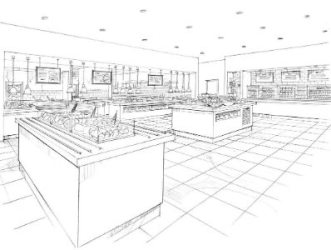 bar kitchen restaurant sketch commercial foodservice technical services tricon designs food