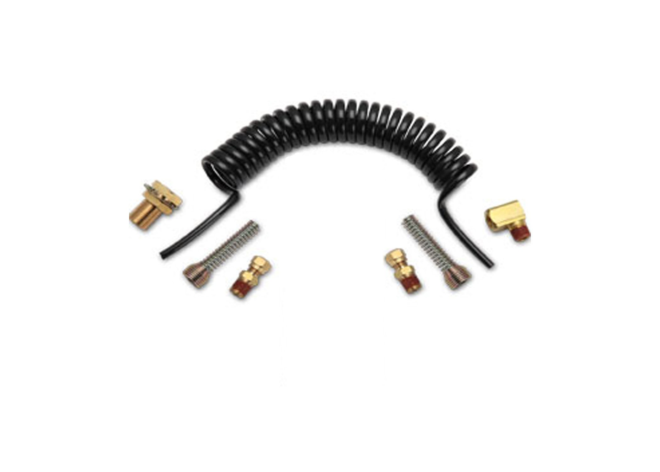 FIFTH WHEEL SLIDER COIL AIR LINE SET WITH BULKHEAD FITTING