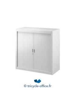armoire basse metallique blanc 100x100 cm occasion