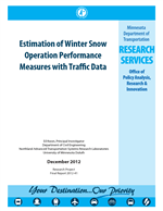 Cover of Estimation of Winter Snow Operation Performance Measures with Traffic Data