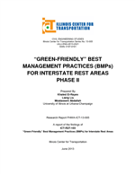 "Cover of ""Green-Friendly"" Best Management Practices (BMPs) for Interstate Rest Areas—Phase II"