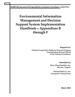 Cover of ENVIRONMENTAL INFORMATION MANAGEMENT AND DECISION SUPPORT SYSTEM IMPLEMENTATION HANDBOOK -- APPENDIXES B THROUGH F