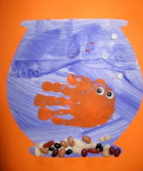 рыбка из отпечатков