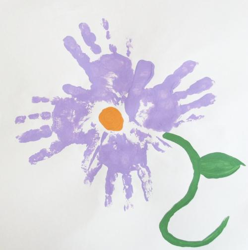 цветы из отпечатков