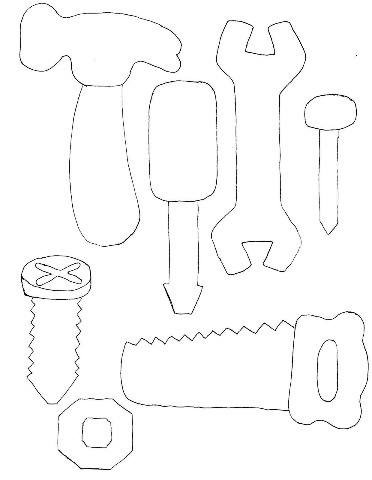 Набор инструментов из фетра