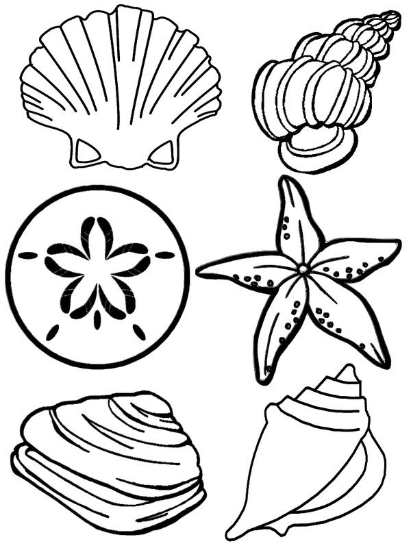 Раскраски Морские жители