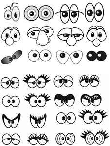 Нарисованные глазки