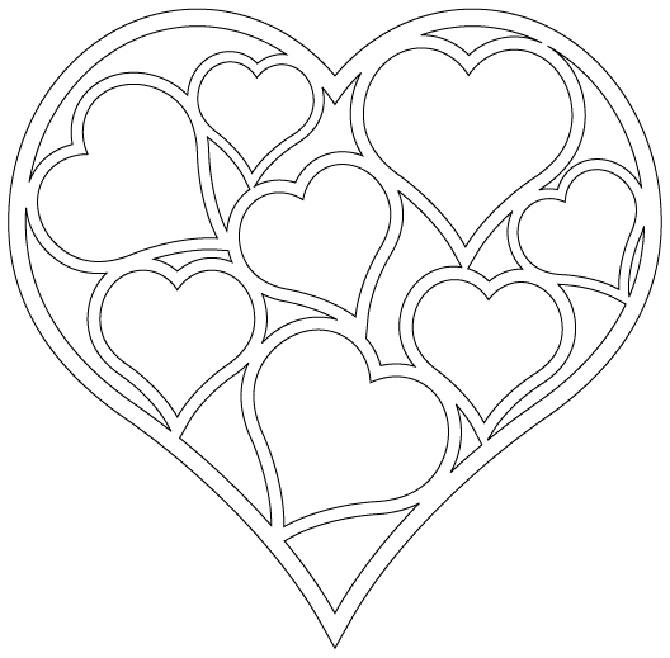 Шаблоны для вырезания. Сердце