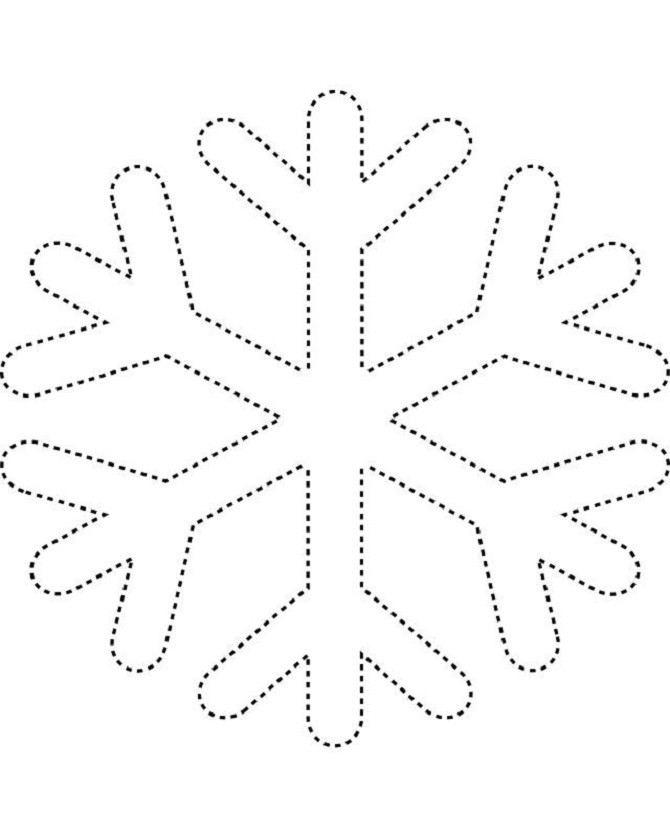 Трафареты снежинок ( 24 фото )