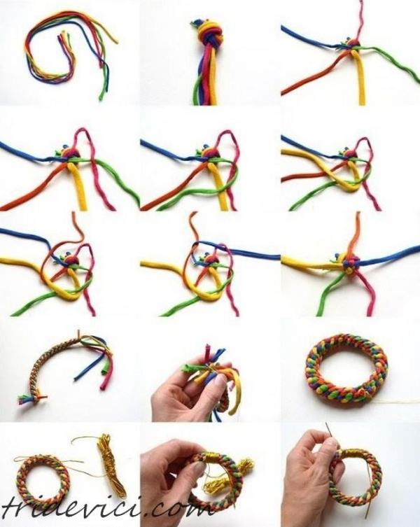плетенный браслет своими руками (2)