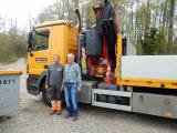 <h5>Thomas von der Firma Toggenburger AG  </h5><p>Thomas von der Firma Toggenburger AG hat schon mehrfach für uns Material transportiert. Röbi hat ihn auf der Fahrt von Zürich nach Wald begleitet.</p>