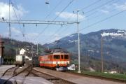 <h5>Bei Steinerberg</h5><p>SOB ABe 4/4 11 in Steinerberg, 30.4.1990 Bild Bernhard Studer</p>