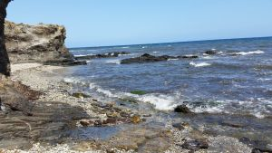 Una de las playas afectadas de la zona