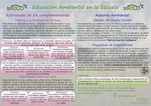 Actividades MA y Talleres ECOcreativos_triECO