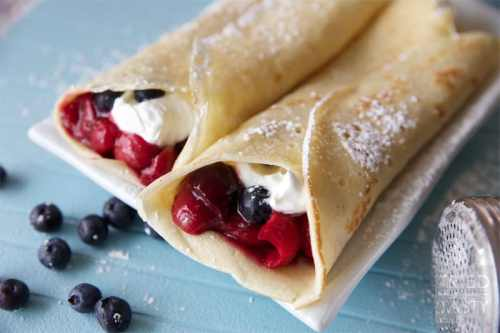 Red, White & Blue Crepes Red, White and Blue breakfasts