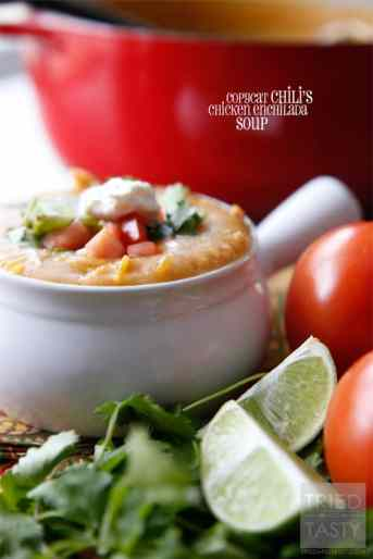 Copycat Chilis Chicken Enchilada Soup // Tried and Tasty