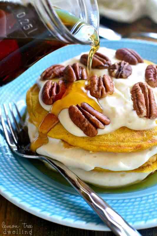 Pumpkin Cheesecake Pancakes // Lemon Tree Dwelling