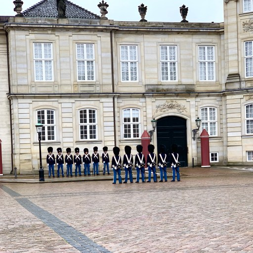 Changing of the Royal Guard Ceremony in Copenhagen