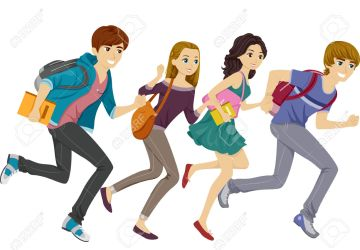 clipart teens students running teen cartoon vector student blogs schools clipground featuring illustration cliparts