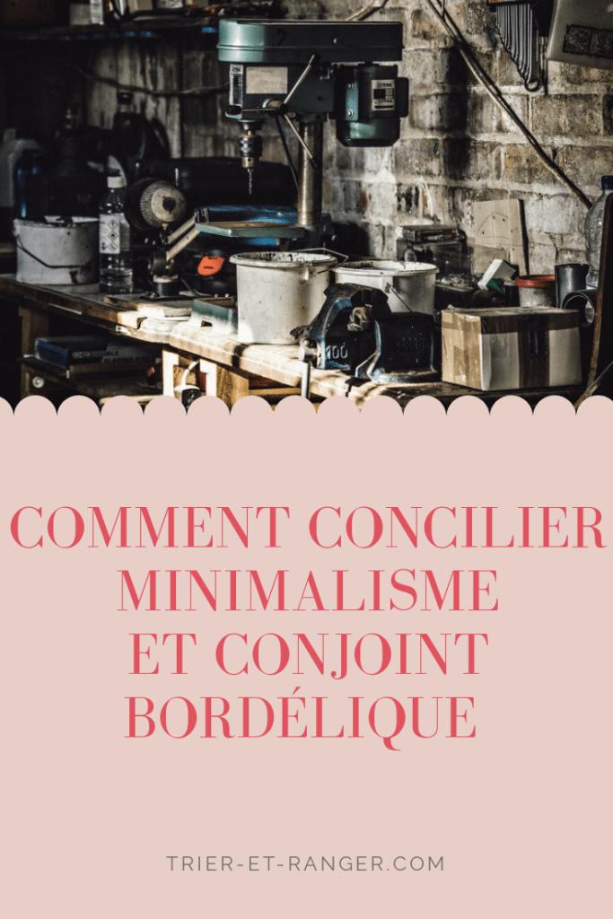 Concilier minimalisme conjoint bordélique