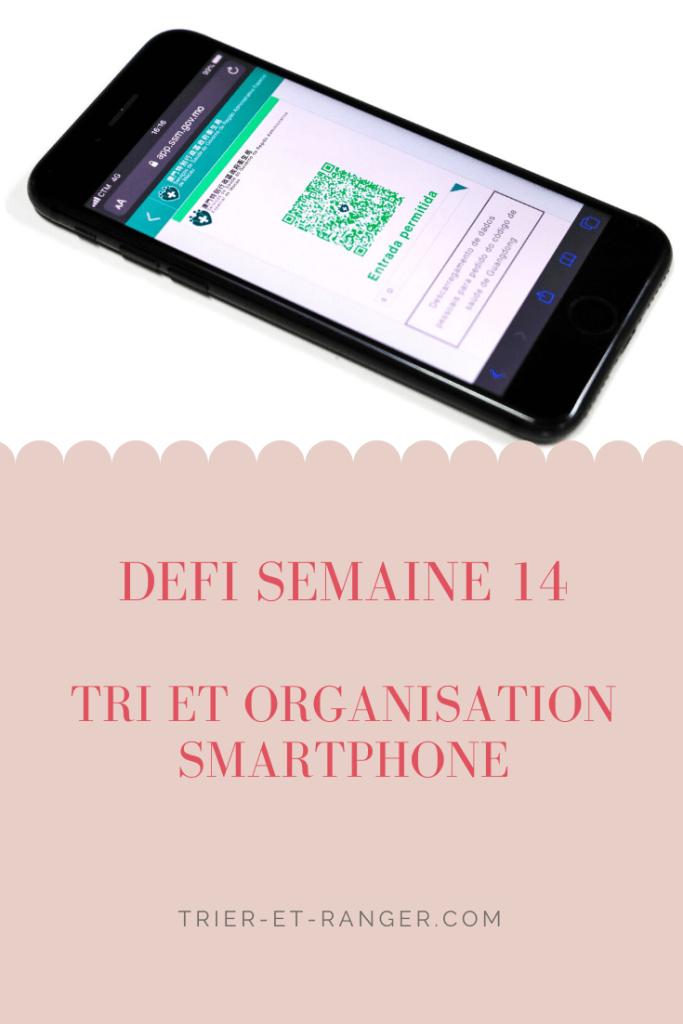 Tri organisation smartphone